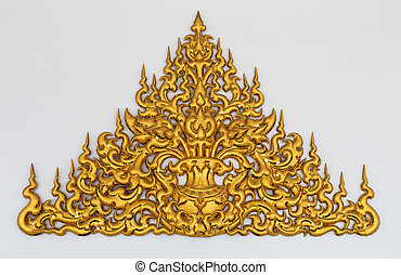 gold stucco Thai style