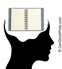 noteBook in Human Head