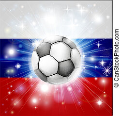 Russian soccer flag - Flag of Russia soccer background with...
