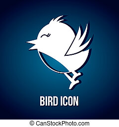 bird icon over blue background. vector illustration