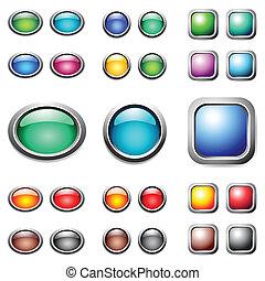 Color buttons set. Vector art.