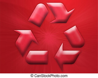 Recycling eco symbol