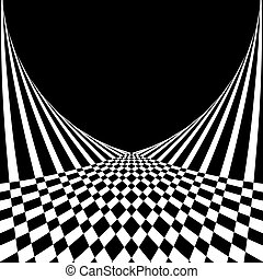Abstract background in op art style - Optical illusion....