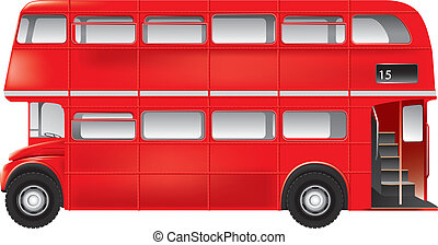 London symbol - red bus - isolated - Detailed vector...