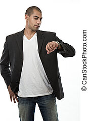 Attractive young african hispanic american businessman