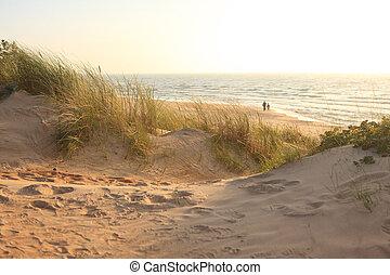 Palanga beach - Calm Palanga beach in the sunny autumn...