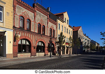 Tiltu street in Klaipeda - Klaipeda, Lithuania - October 1,...