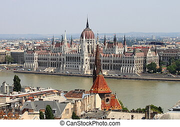 Parliament of Hungary in Budapest - Parliament building in...