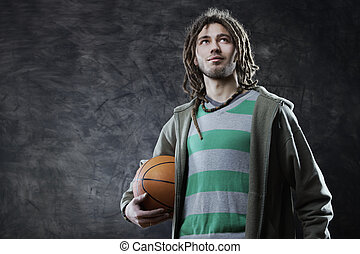 Basketball player - Portrait of young man with basketball