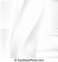 White Crumpled Abstract Background - White Crumpled Tissue...