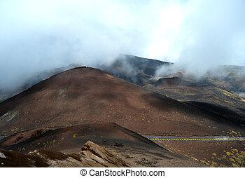 Etna - ancient craters