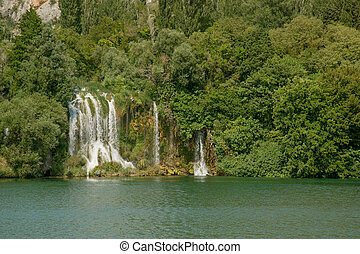Krka national park - Roski Slap waterfalls in Krka national...