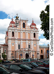 Church of St. Casimir in Vilnius, Lithuania - The Jesuit...