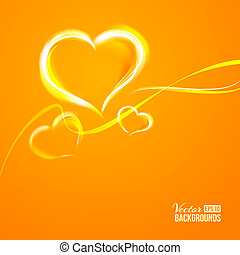 Burning heart. Vector illustration, contains transparencies,...