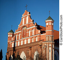 Church of St Francis and Bernadine in Vilnius, Lithuania