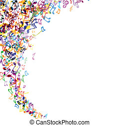 Vector Music Background - Vector Illustration of an Abstract...