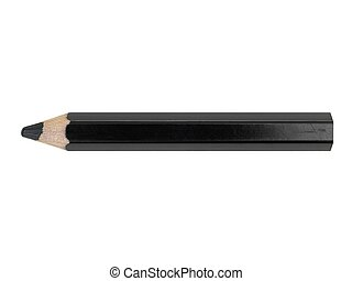 Black Pencil - A black pencil isolated against a white...