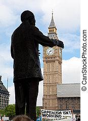 Nelson, Mandela, estátua, grande, Ben