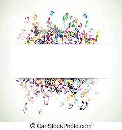 Abstract Vector Music Background - Vector Illustration of an...