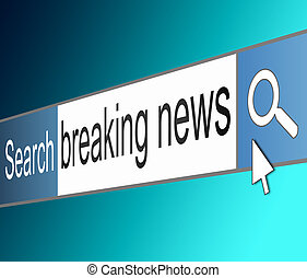 Breaking news concept. - Illustration depicting a screen...