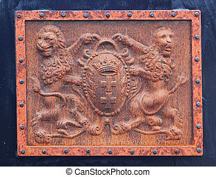 Coat of arms - Old rusty coat of arms