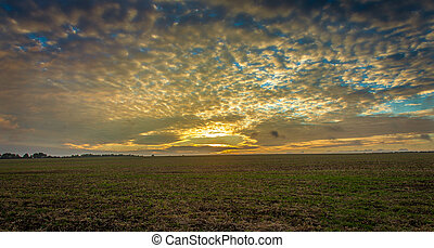 Lincolnshire wolds clouds view