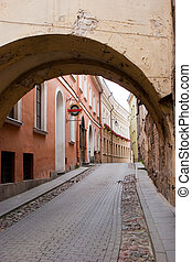 St. Casimir street in Vilnius old town, Lithuania