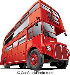 London double decker bus - Detailed vector image of symbol...