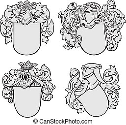 set of aristocratic emblems No2