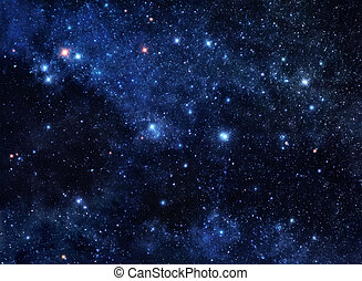 Deep space gems - Deep blue space background filled with...