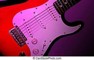 Guitar - Electric guitar on purple background