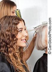 Happy Woman At Hair Salon