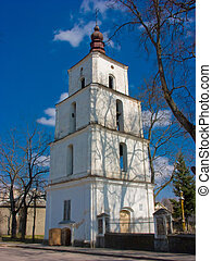 Belfry of Church of Holy Trinity in Dusetos, Lithuania