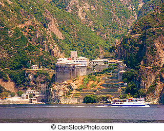 Dionysiou monastery at Mount Athos in Greece