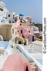 Santorini view - Beautiful traditional village Oia at island...