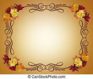 Thanksgiving Fall Autumn Border