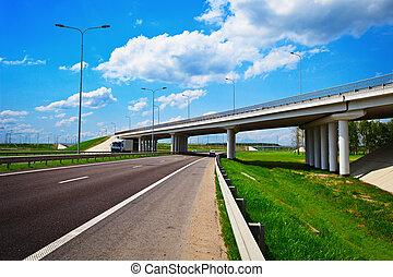 Road highway junction