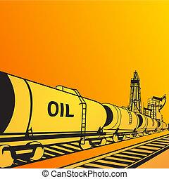 Oil transportation banner. Vector illustration, eps 10,...
