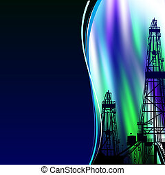 Oil derrick banner. - Oil derrick banner for your text....