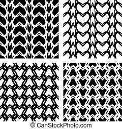 Seamless lacy knitted patterns. - Knitting texture. Seamless...