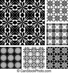 Seamless geometric patterns set Vector art