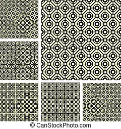 Seamless geometric patterns set. - Seamless geometric...