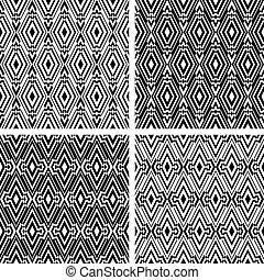 Seamless geometric patterns set. - Seamless geometric...