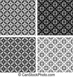Seamless textures set. - Seamless geometric modern patterns...