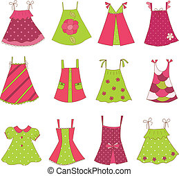 Baby Girl Dress Collection - Collection of baby girl...