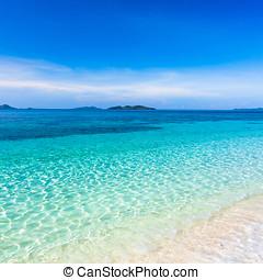 Tropical beach Malcapuya - Tropical sandy beach Malcapuya at...