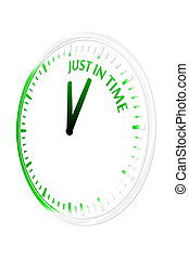 Just in time clock vector illustration
