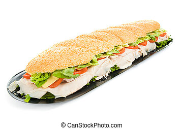 Giant Turkey Sandwich Isolated - Giant, three foot turkey...
