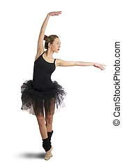 Isolated dancer - Isolate dancer on white background
