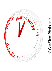 Time to work clock vector illustration